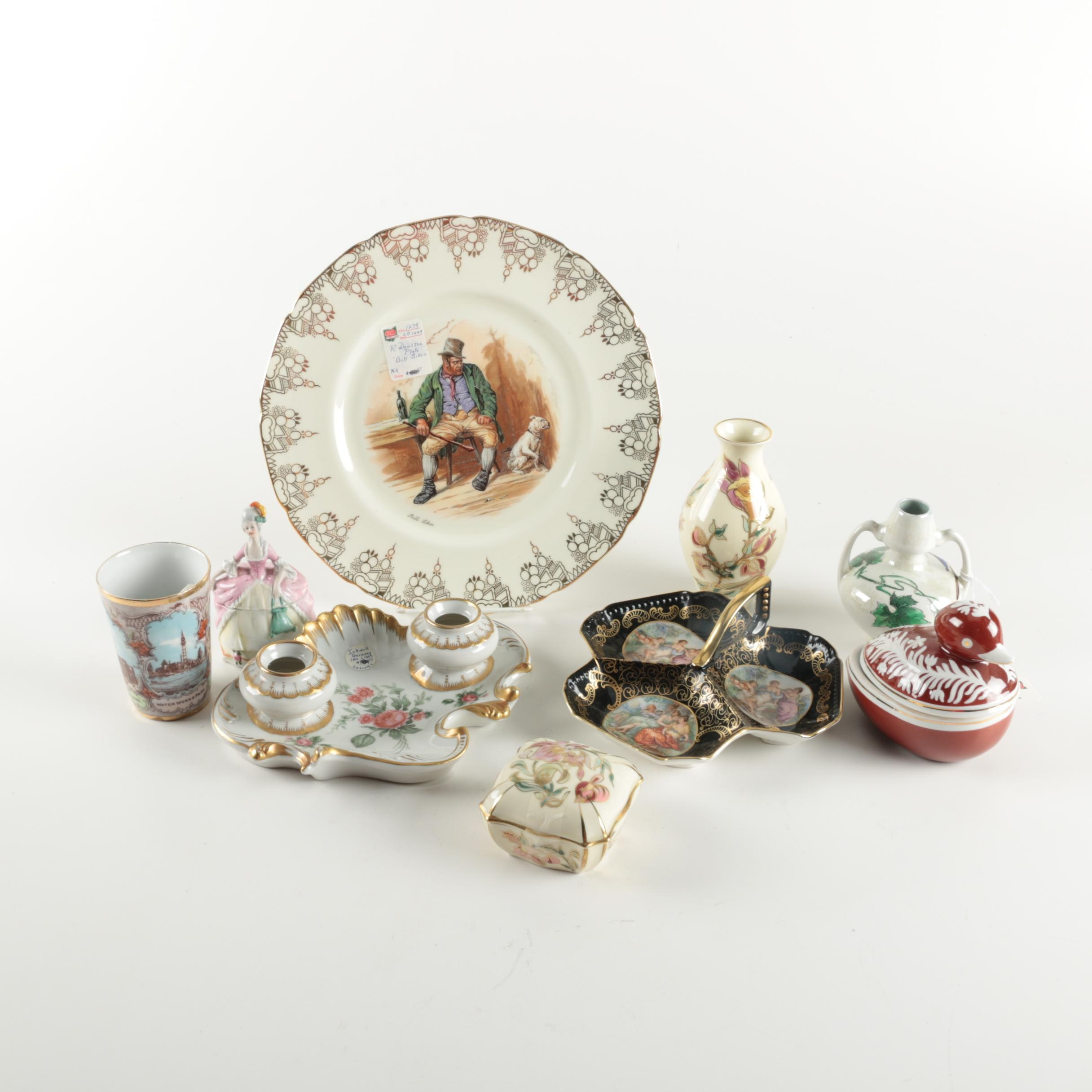 Assortment Antique and Vintage Porcelain