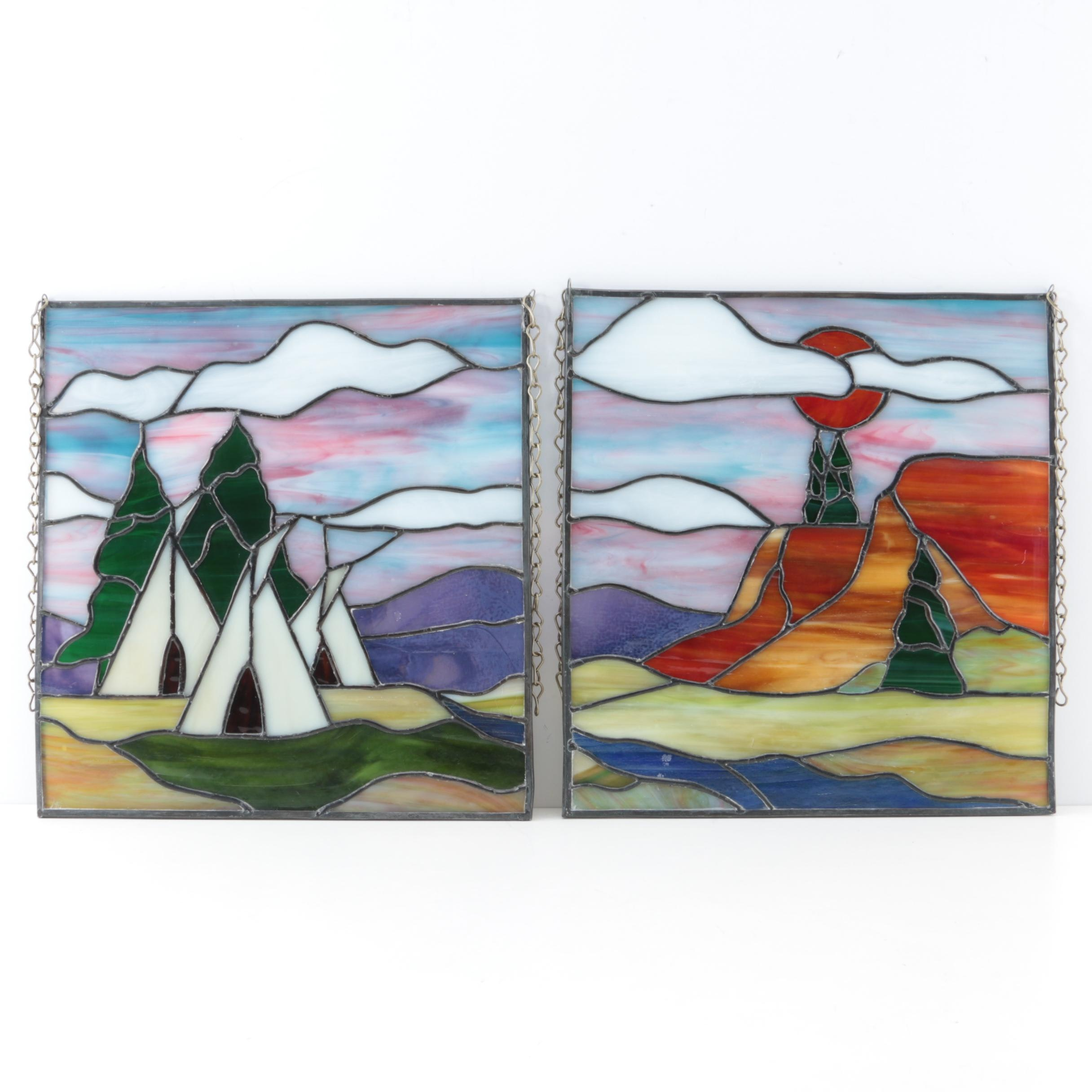 Stained Glass Diptych