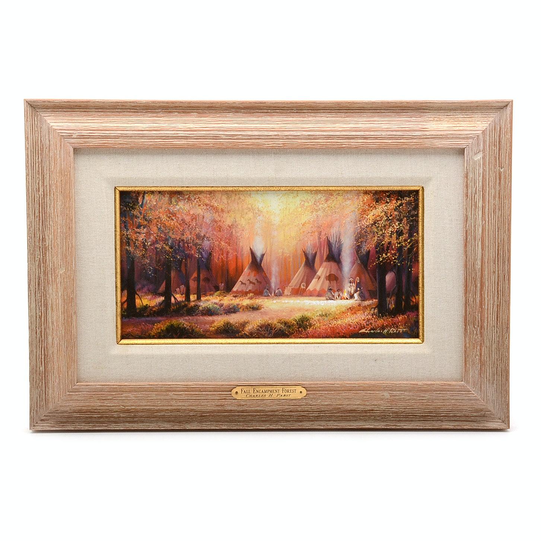 Charles H. Pabst Embellished Giclée 'Fall Encampment Forest'