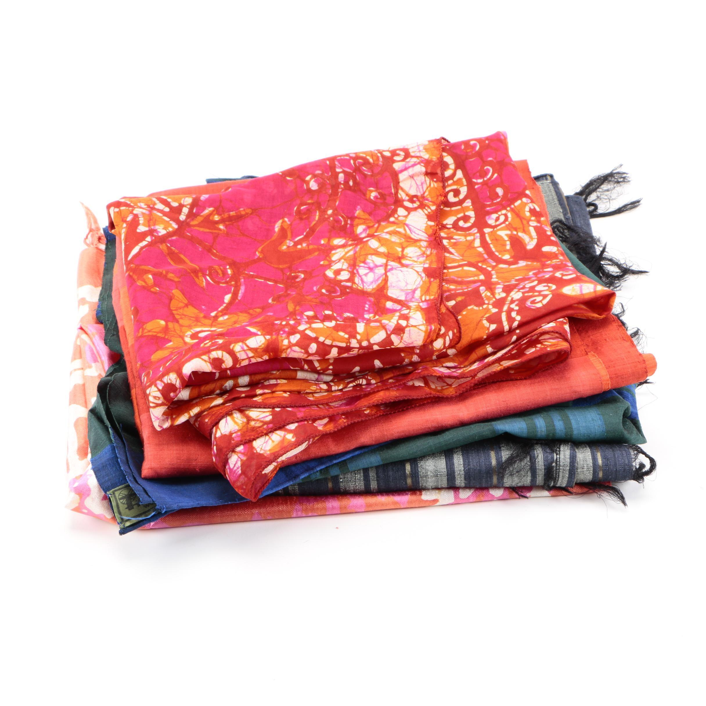 Assortment of Silk and Shibori Scarves