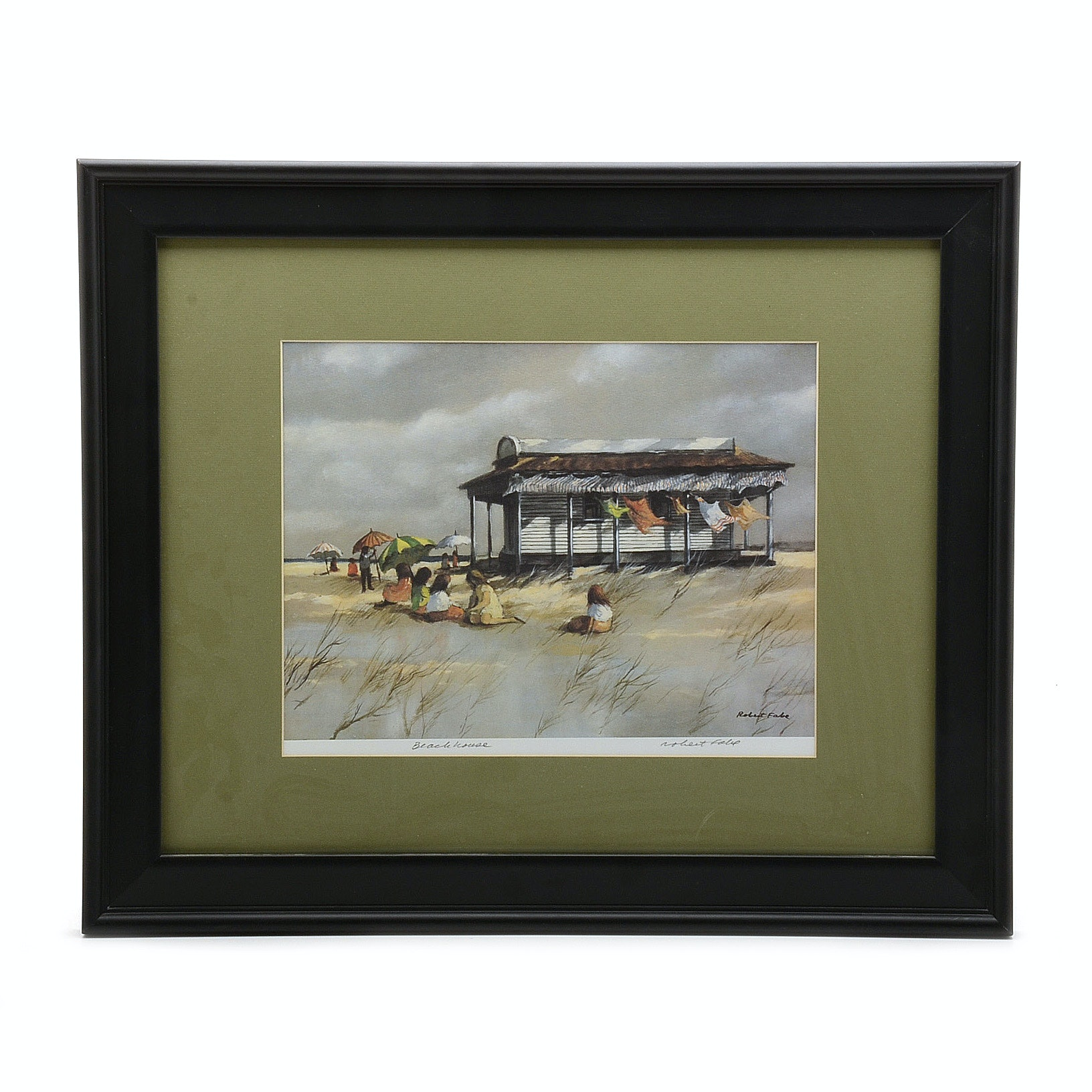 """Robert Fabe Signed Limited Edition Offset Lithograph """"Beach House"""""""