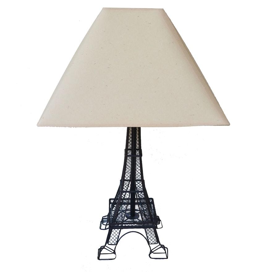 Metal wire eiffel tower table lamp ebth metal wire eiffel tower table lamp greentooth Image collections