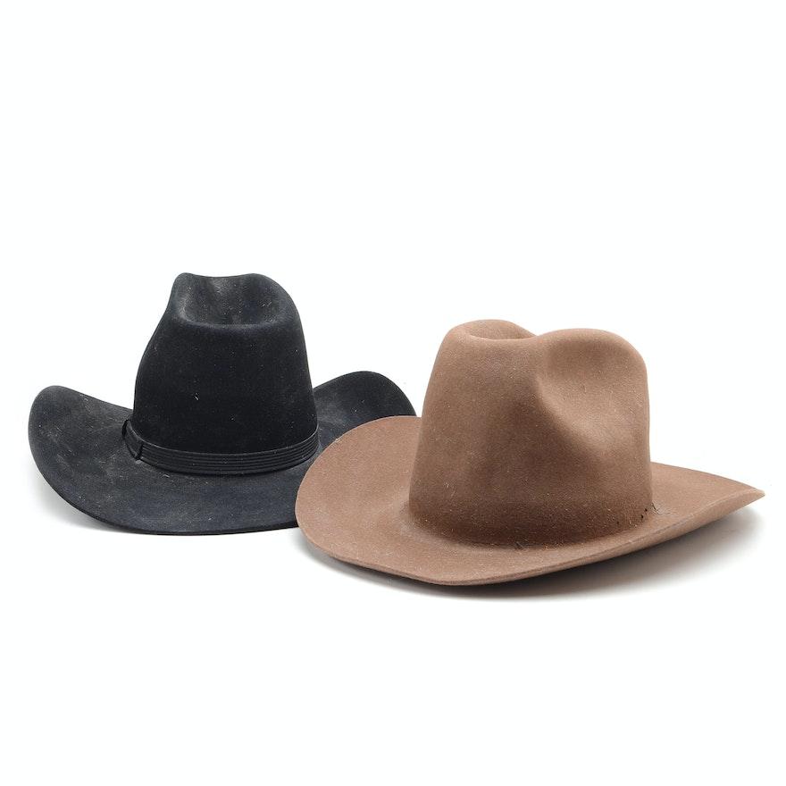 14559a777bb97 Two Men s Cowboy Hats   EBTH