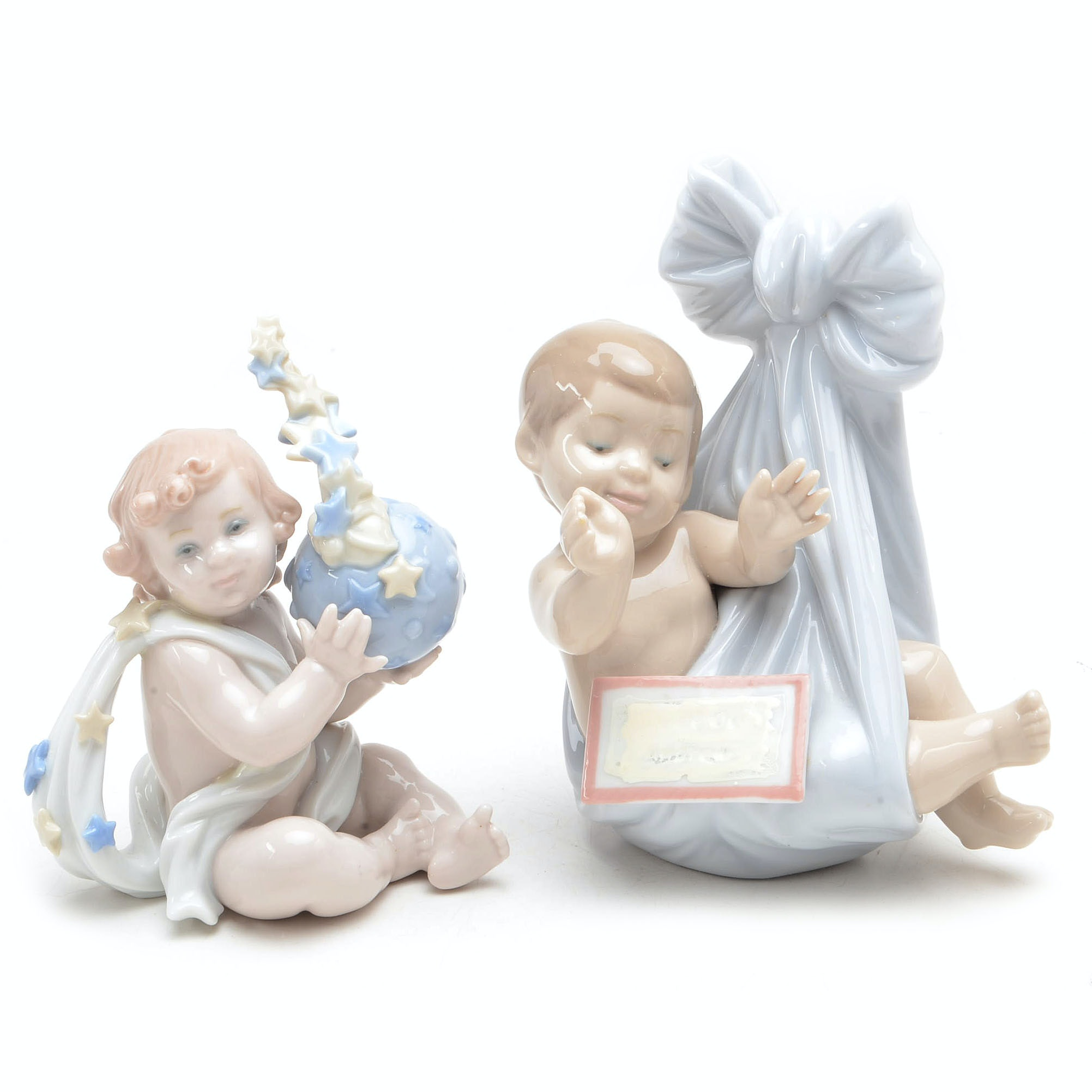 """Lladro Figures """"Heaven's Gift -Boy"""" and """"A New Beginning"""""""