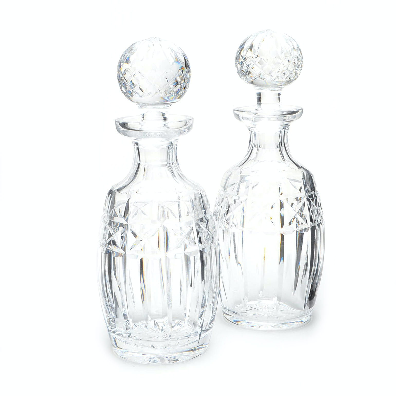 "Waterford Crystal ""Kylemore"" Spirit Decanters with Stoppers"