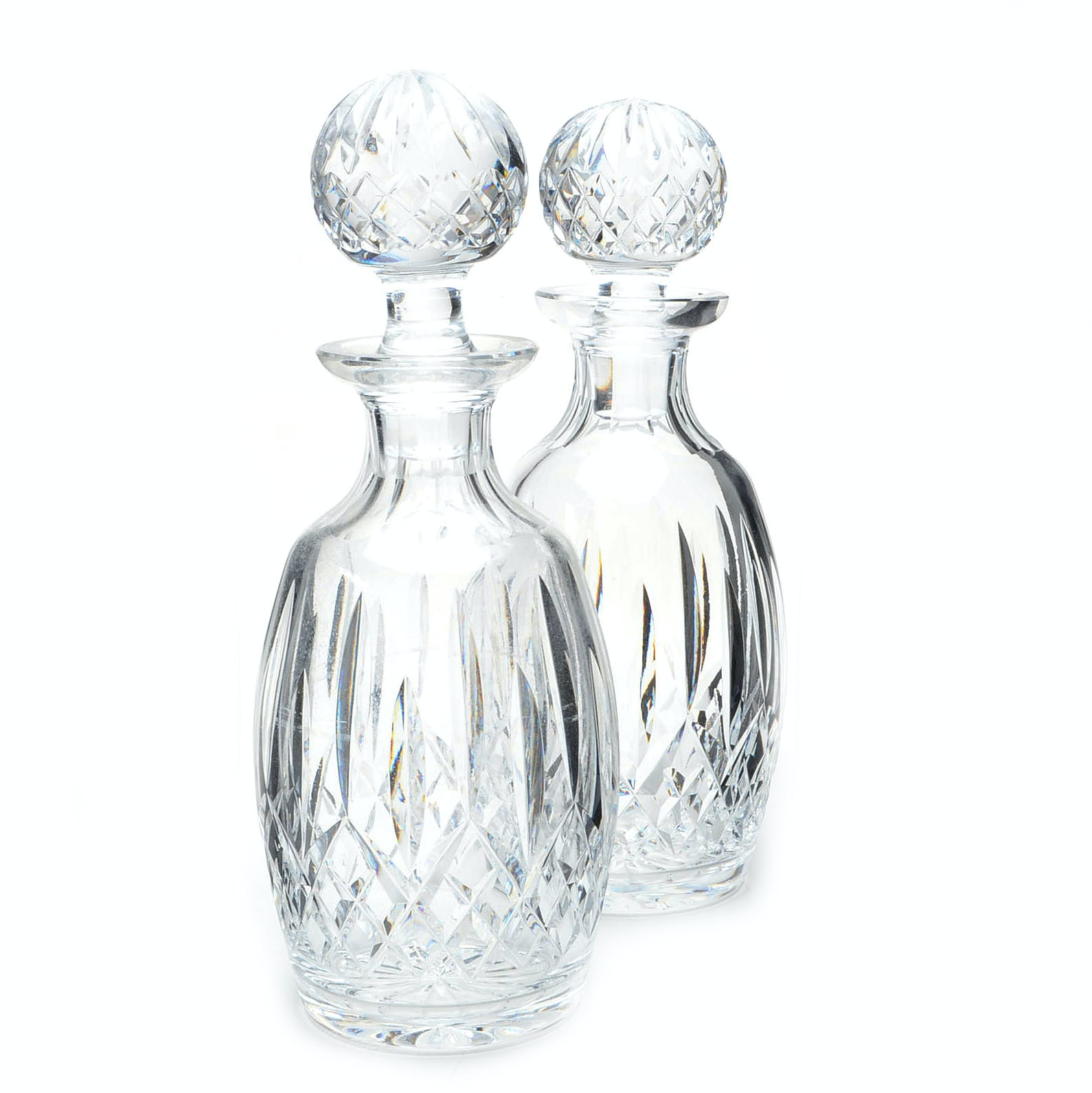 "Waterford Crystal ""Lismore"" Spirit Decanters with Stoppers"