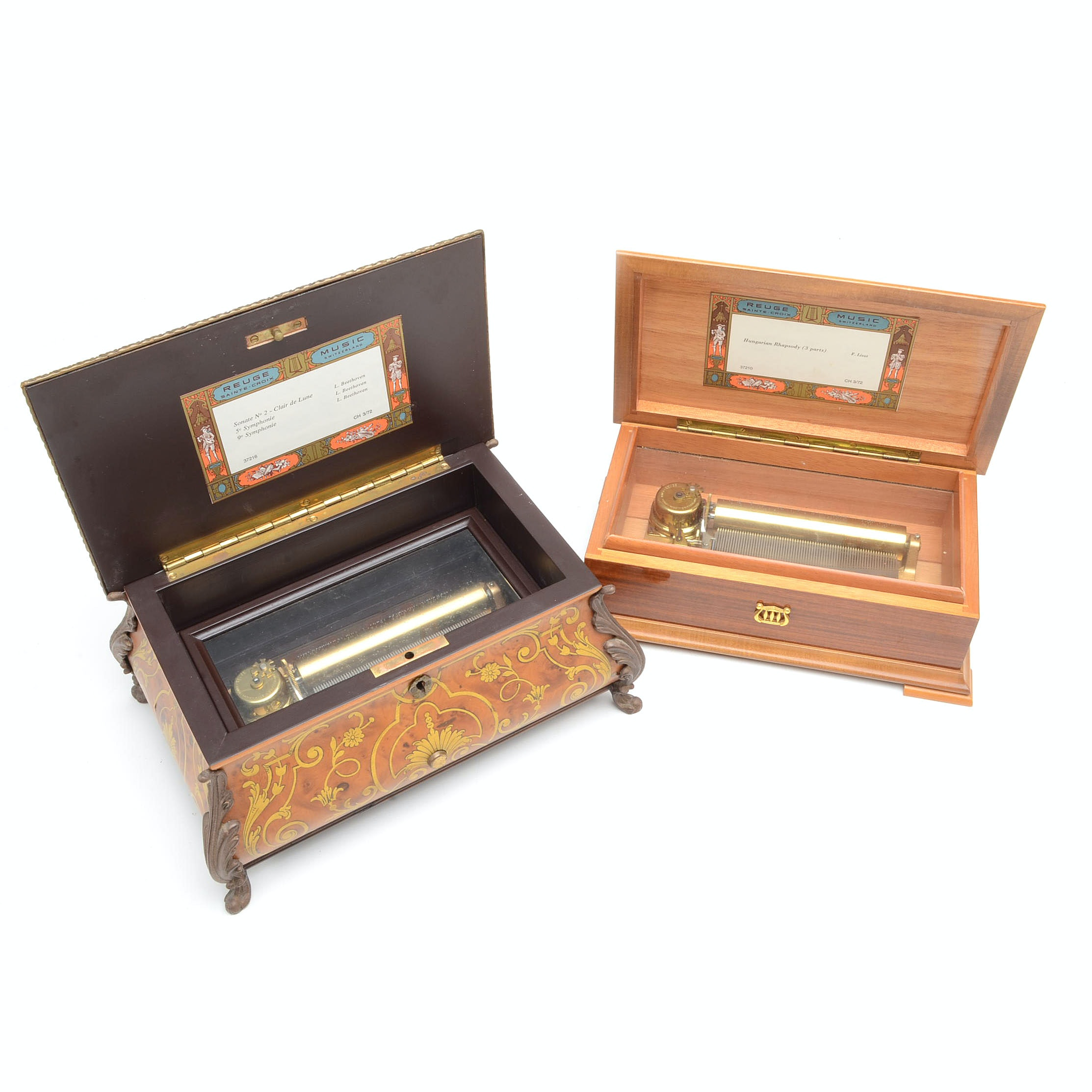 Vintage Reuge Swiss Music Boxes