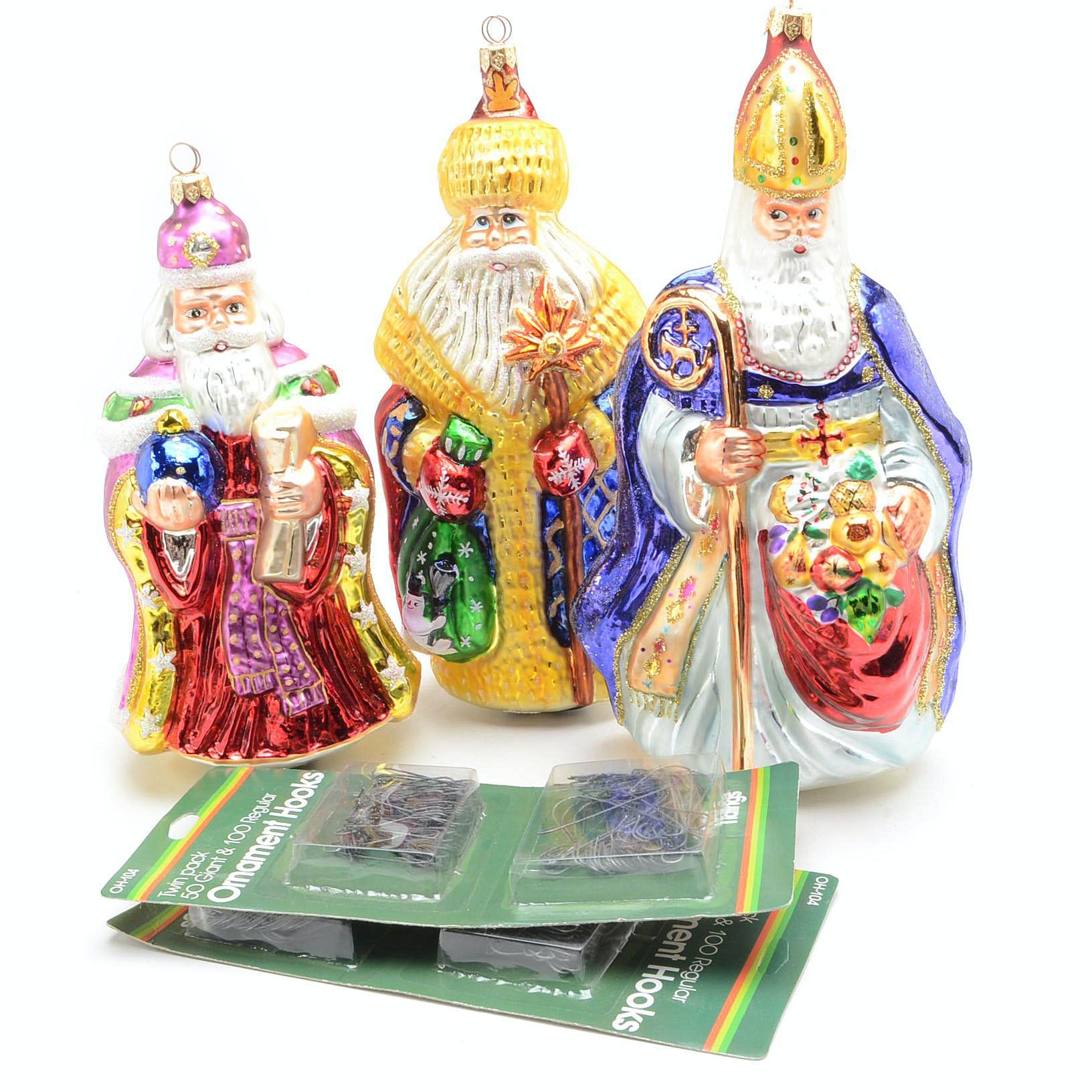 Christopher Radko St. Nicholas Ornaments