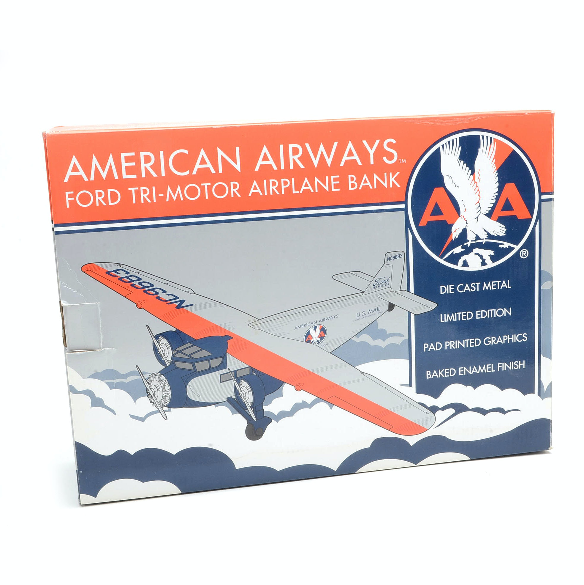 Spec Cast Ford Tri-Motor American Airways Coin Bank
