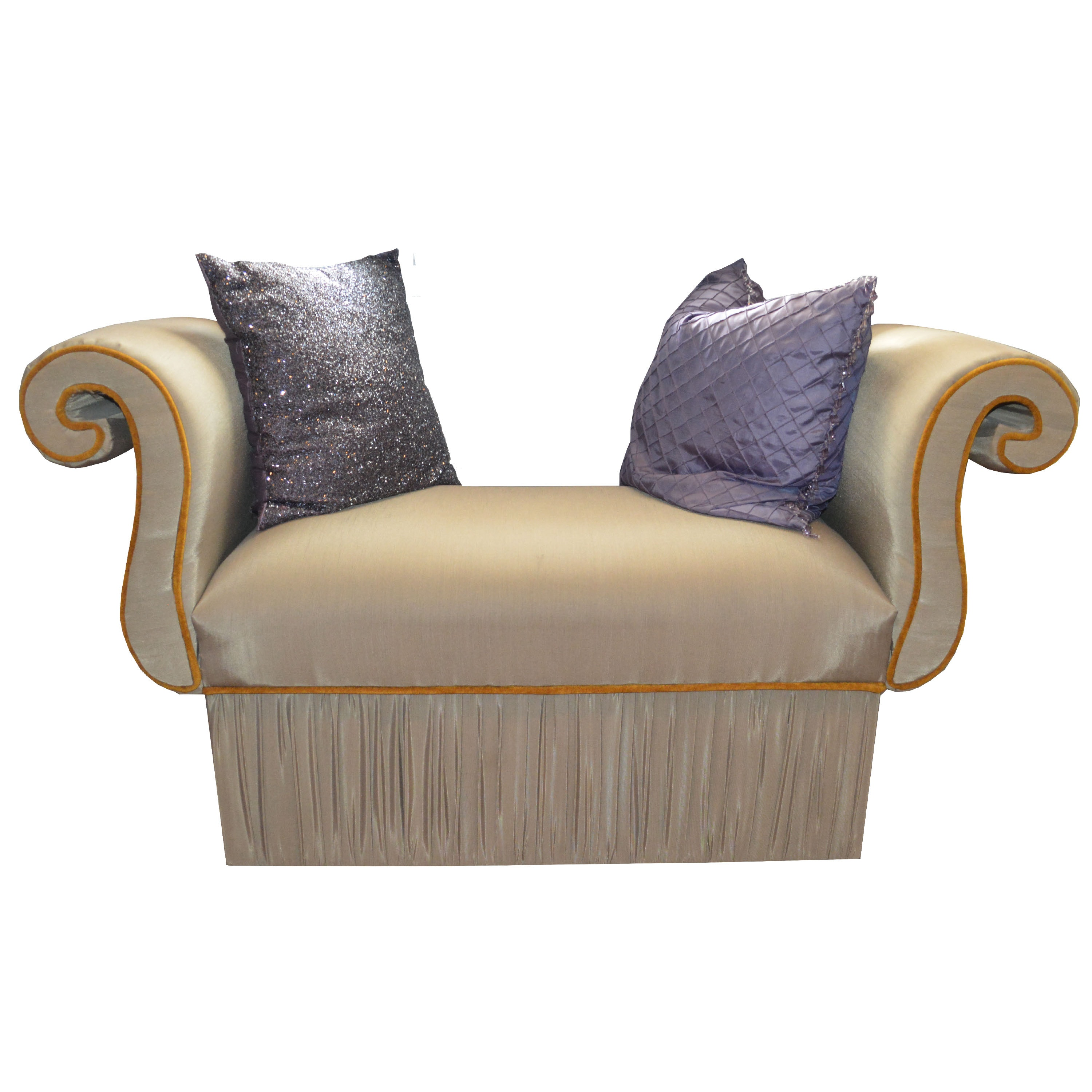 Hollywood Regency Style Settee with Pillows