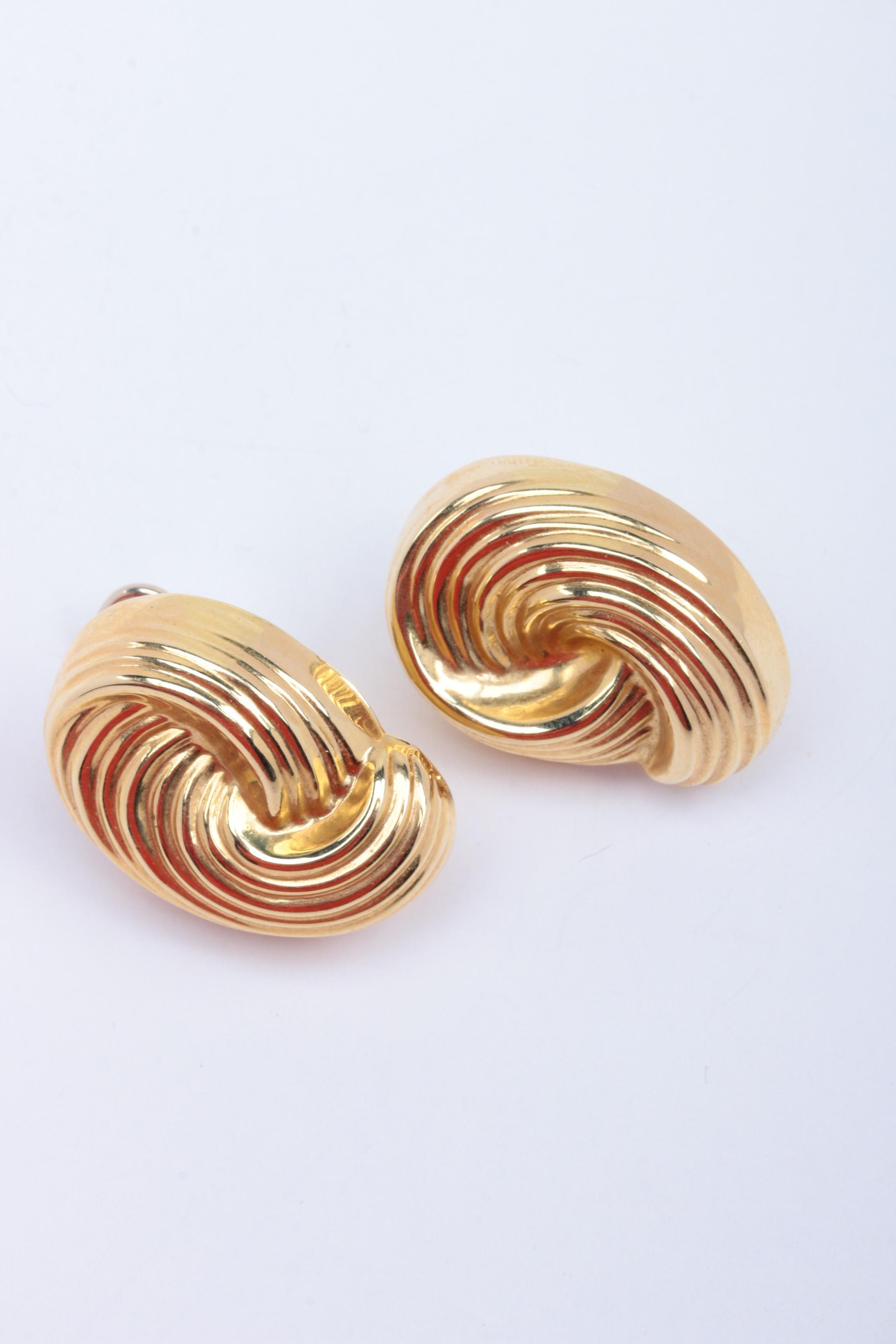 14K Yellow Gold Post Earrings
