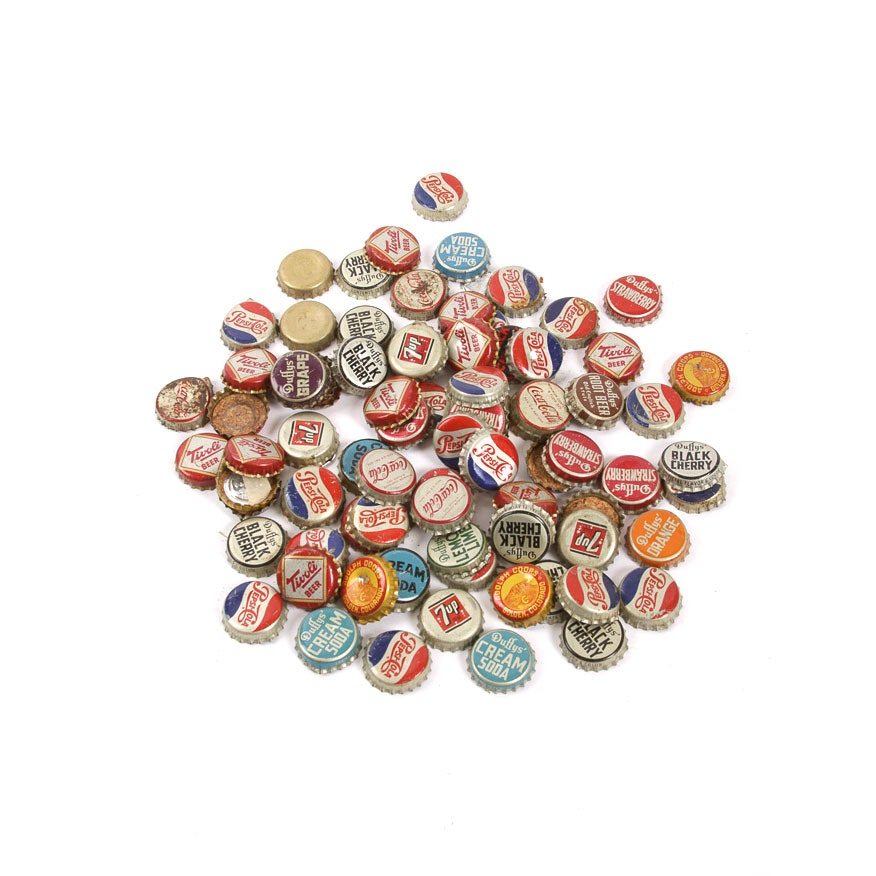 Assortment of Vintage Bottle Caps