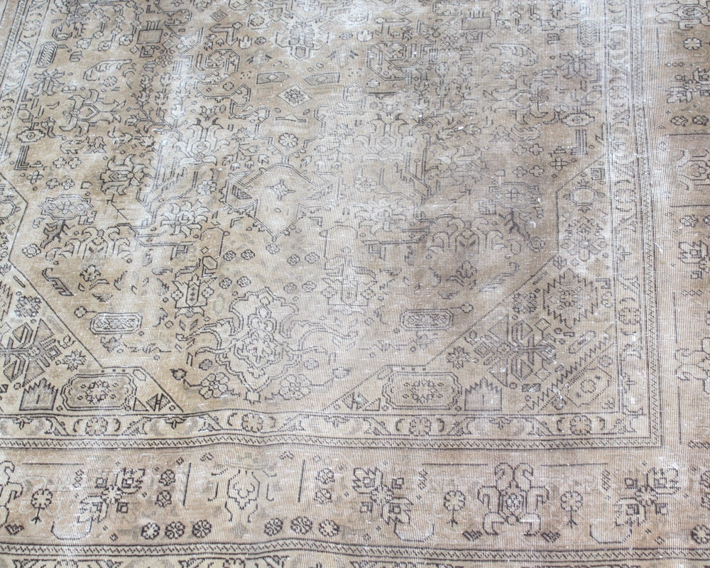 Antique Hand Knotted Persian Heriz Area Rug