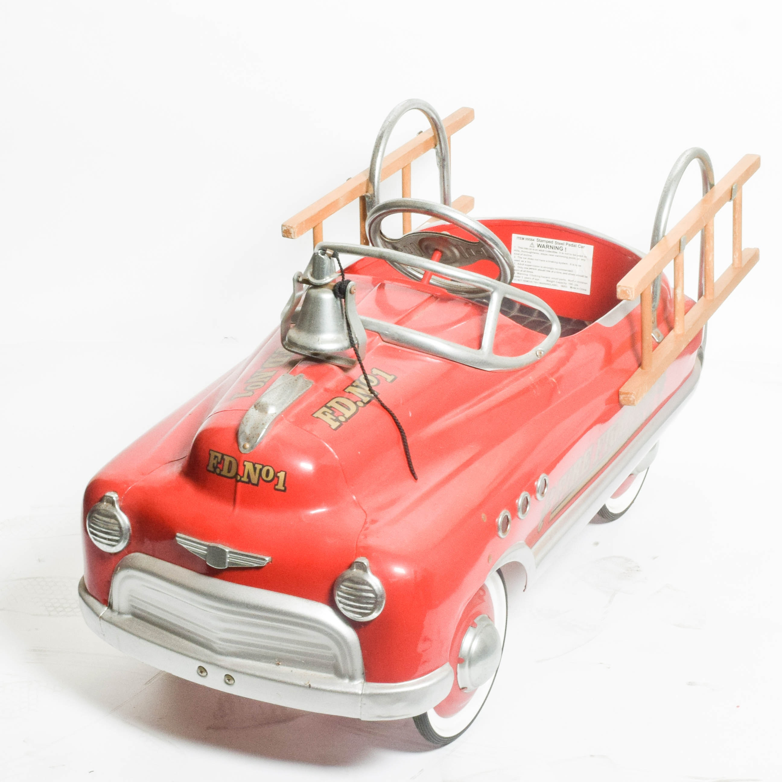 1950s Style Fire Engine Pedal Car by Dexton Kids