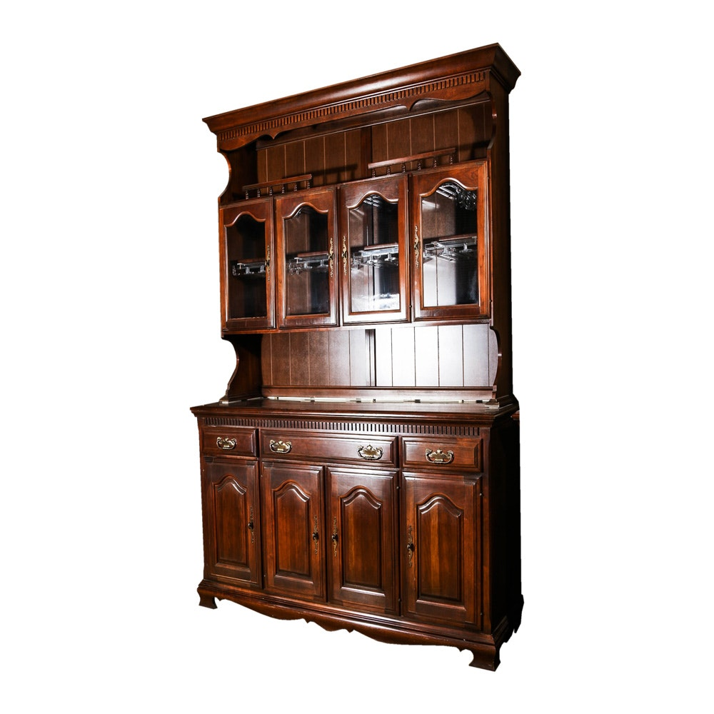 Early American Style Cherry Bar Cabinet