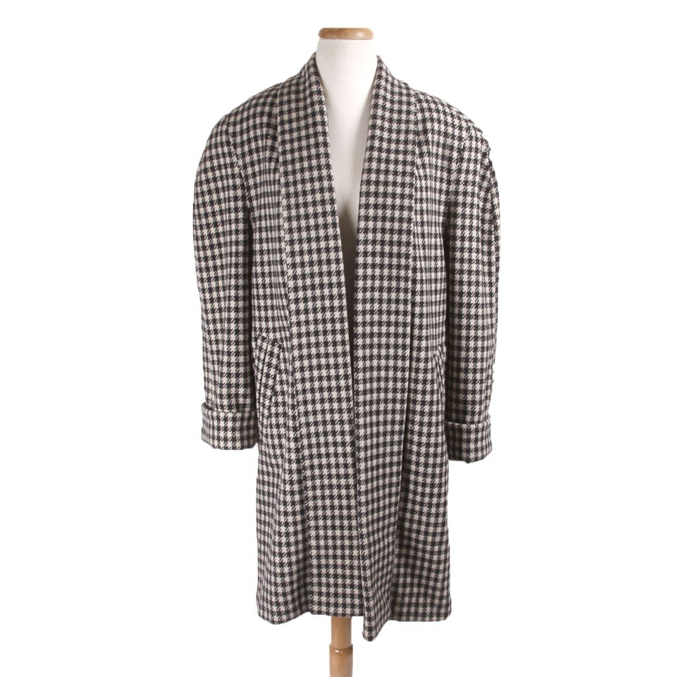 Samantha Taylor Gingham Wool Coat