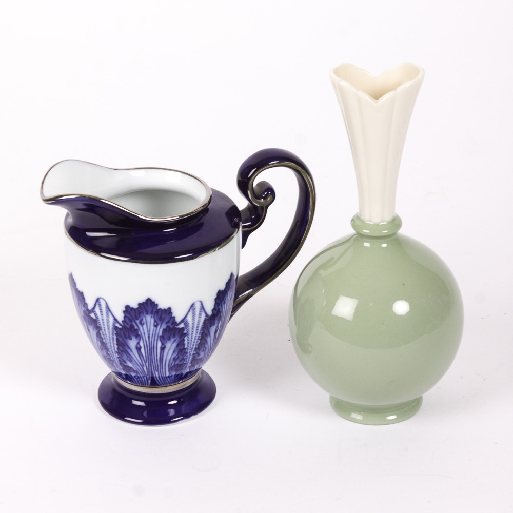 Two Pieces of Pottery Decor