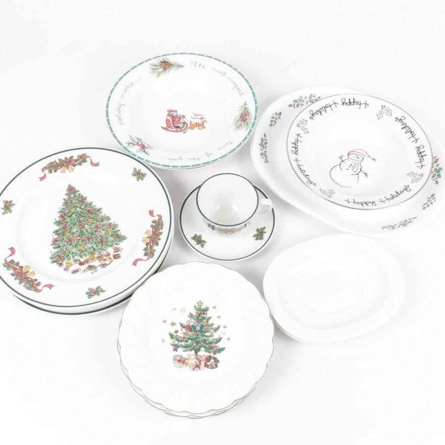 johnson brothers victorian christmas dinner plates