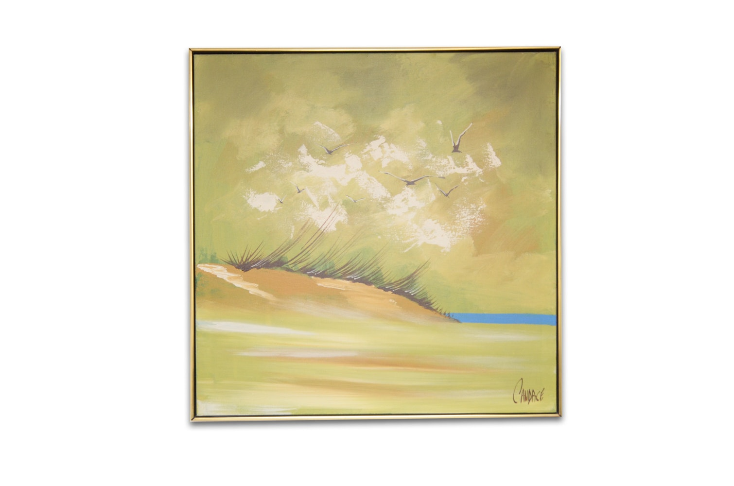 Candace Oil Painting on Canvas of Beach Landscape