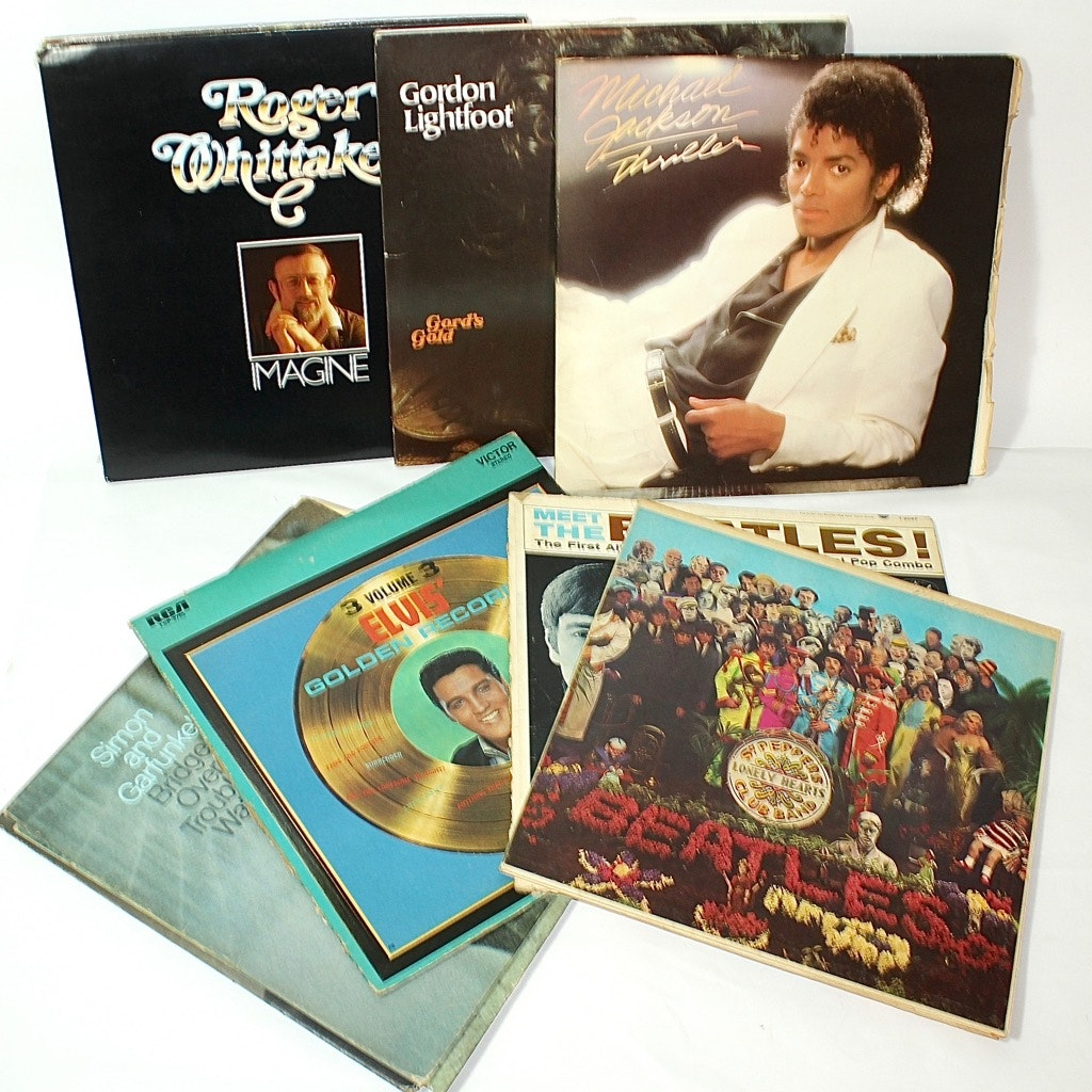 "The Beetles, Elvis, & ""Thriller"" by Michael Jackson LP Collection"