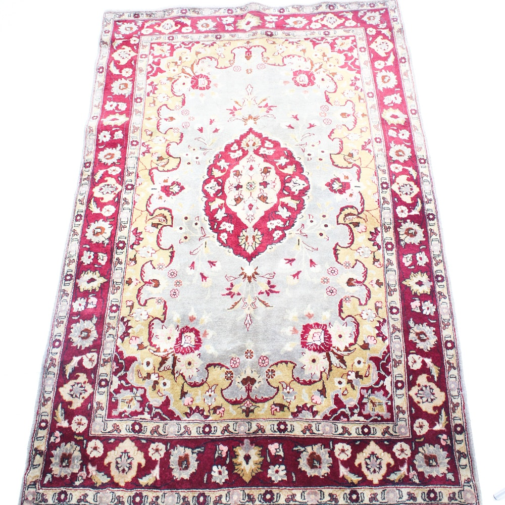Vintage Hand Knotted Persian Tabriz Area Rug
