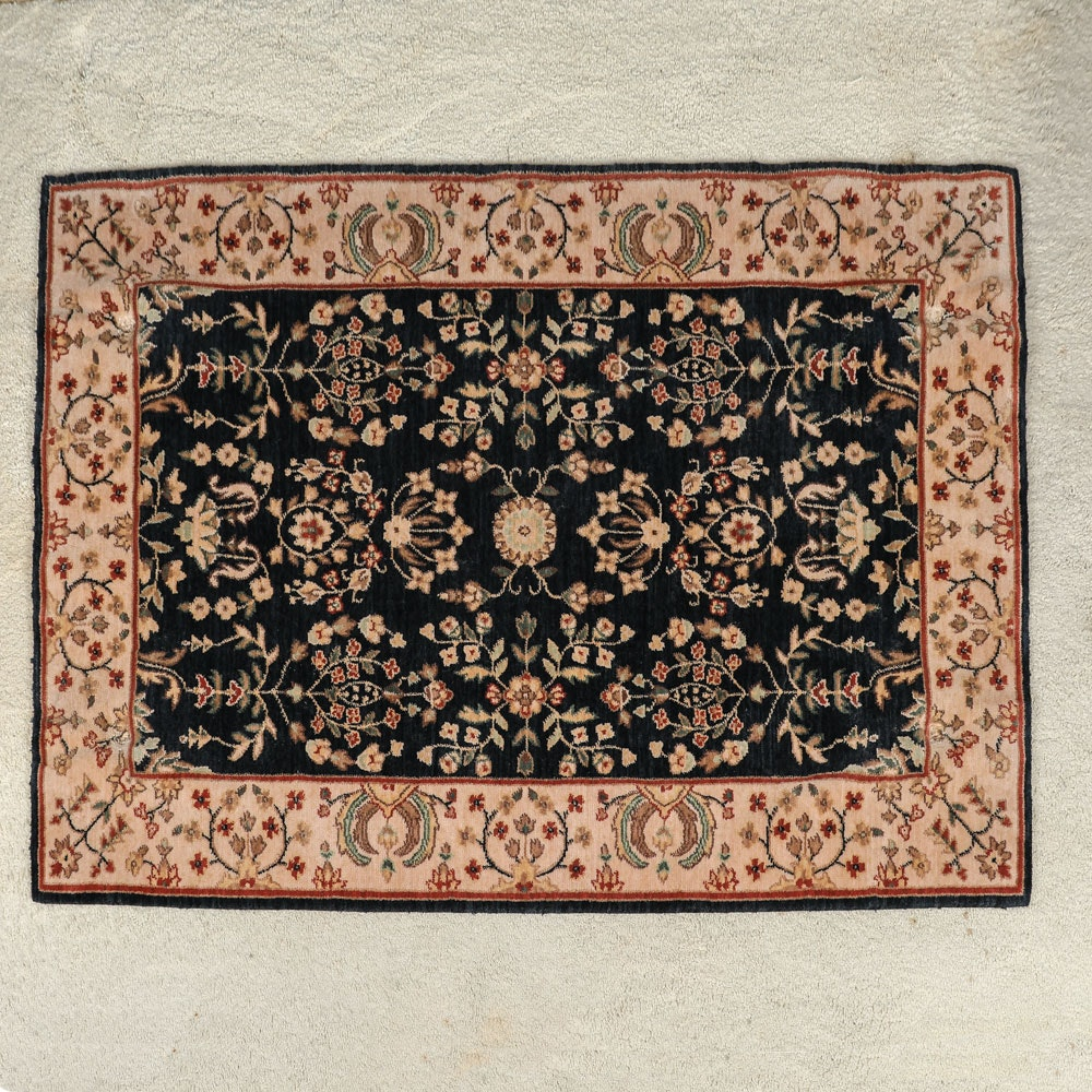Power-Loomed Indo-Persian Style Wool Accent Rug