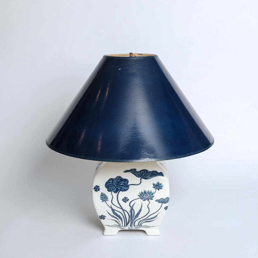 Vintage Ceramic Asian Style Table Lamp
