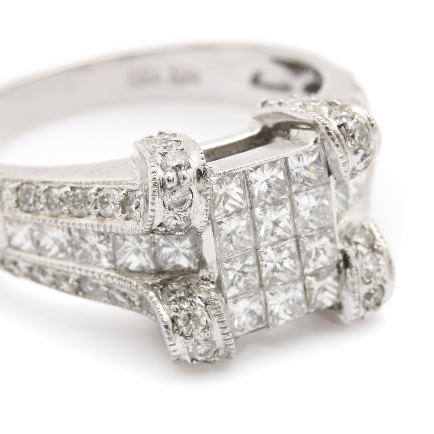18K White Gold 1.75 CTW Diamond Ring | EBTH