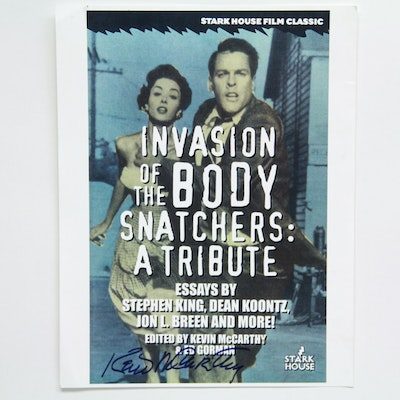 """Kevin McCarthy Signed Book Poster """"Invasion of the Body Snatchers: A Tribute"""""""
