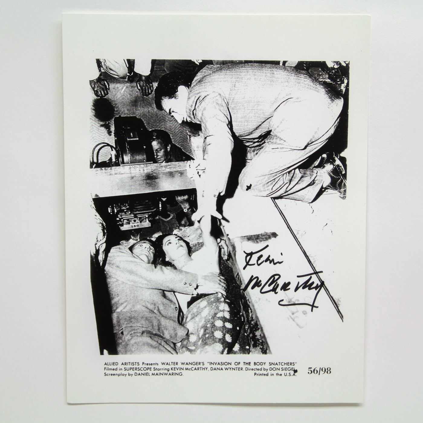 "Kevin McCarthy Signed ""Invasion of the Body Snatchers"" Lobby Card"
