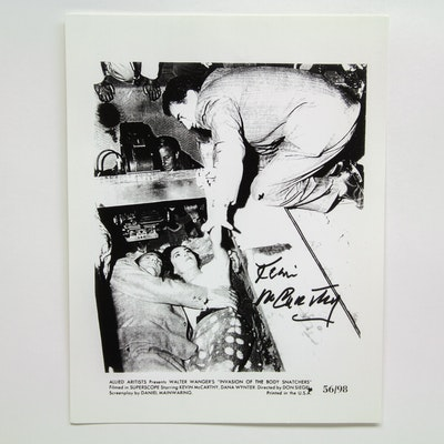 """Kevin McCarthy Signed """"Invasion of the Body Snatchers"""" Lobby Card"""