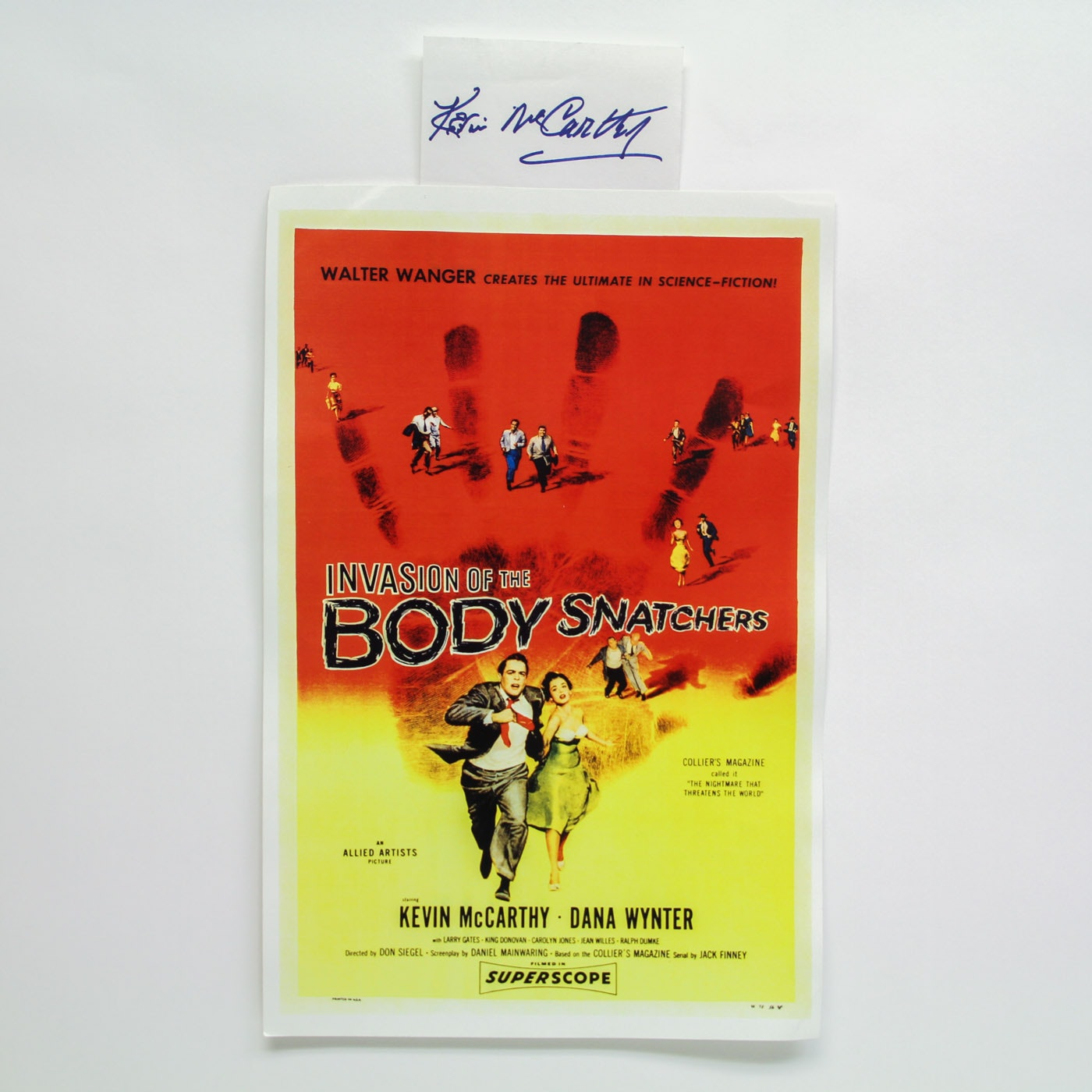 """Invasion of the Body Snatchers"" Lobby Card and Kevin McCarthy Autograph"