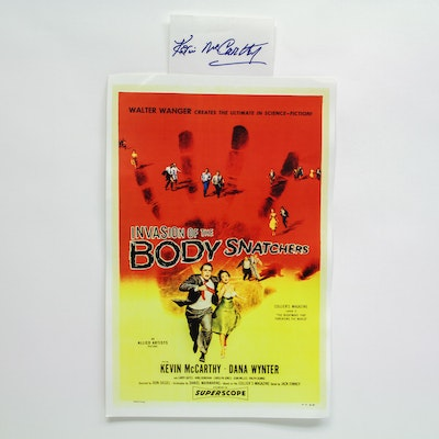 """""""Invasion of the Body Snatchers"""" Lobby Card and Kevin McCarthy Autograph"""