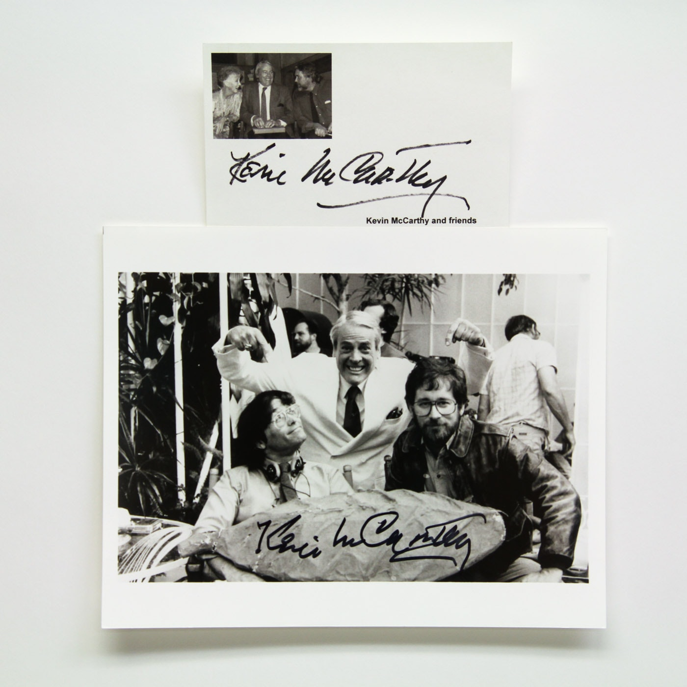 Kevin McCarthy Signed Photo with Steven Spielberg