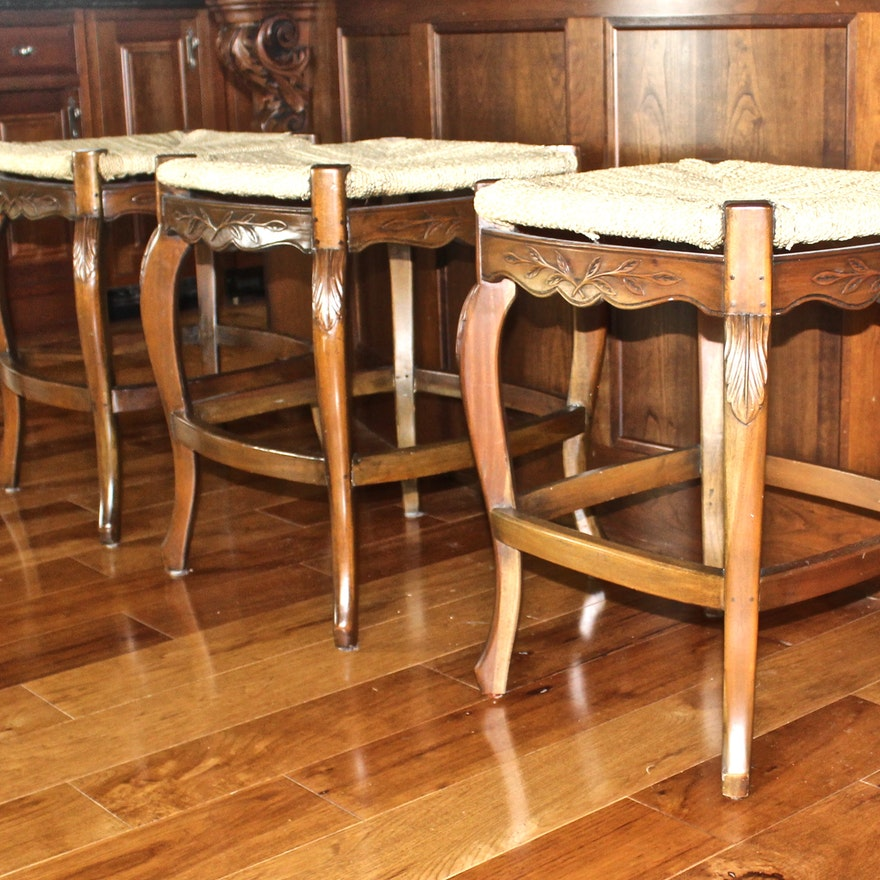 French Provincial Style Counter Height Stools By Marie Albert Country