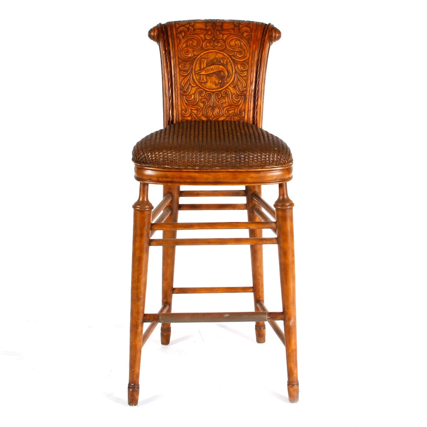 Gothic Revival Bar Stool By Thomasville