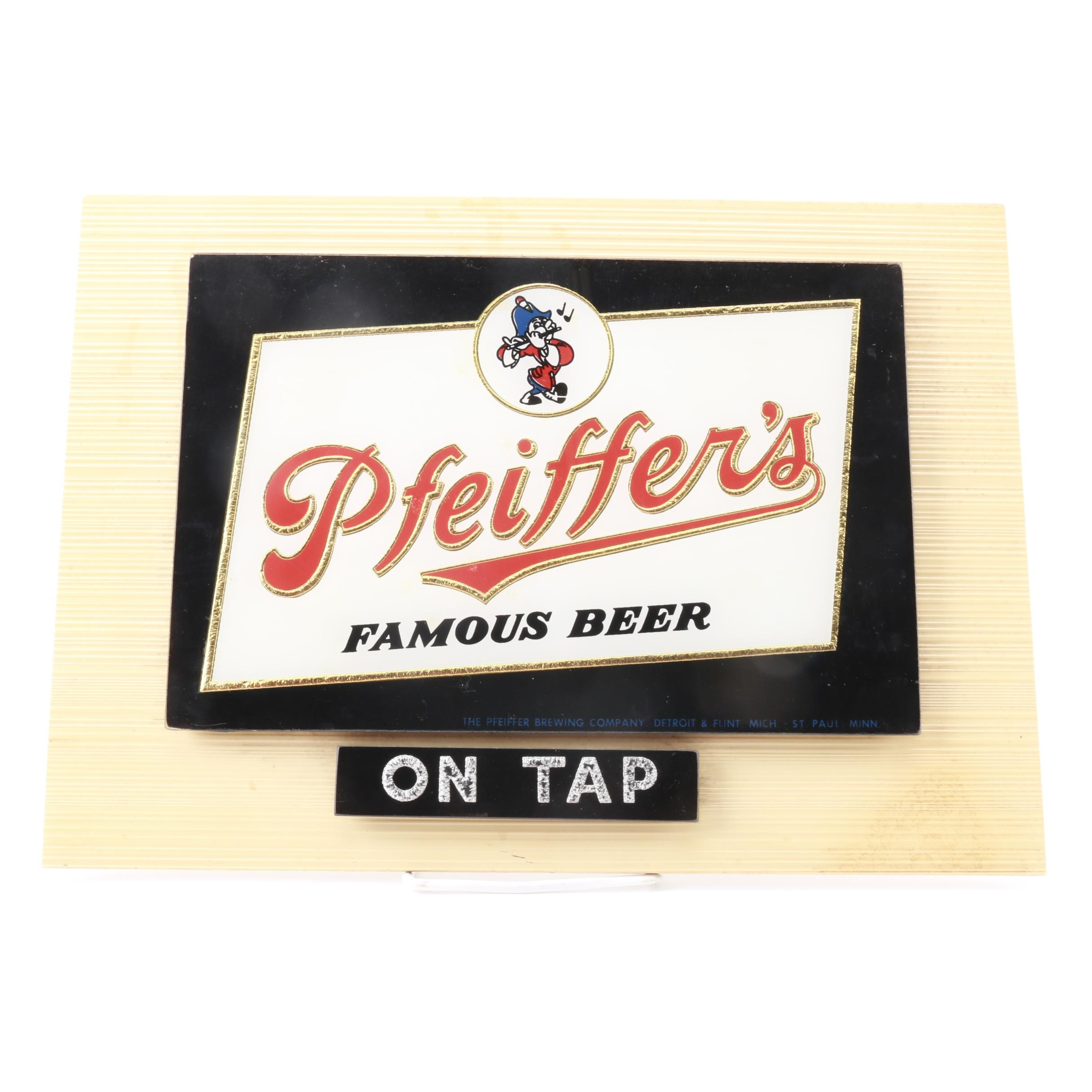 Pfeiffer's Famous Beer Sign