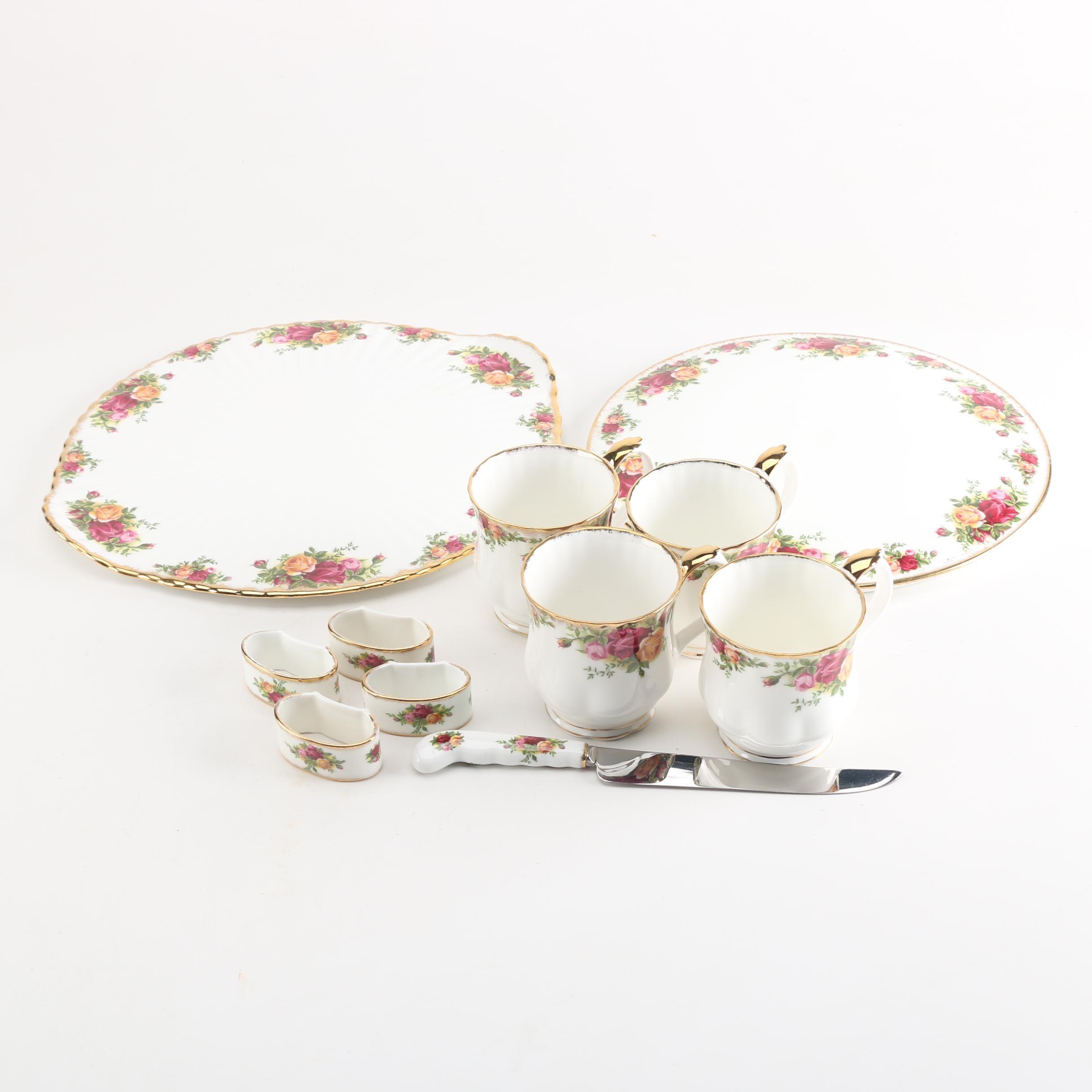 """Royal Albert """"Old Country Roses"""" Bone China Tableware"""
