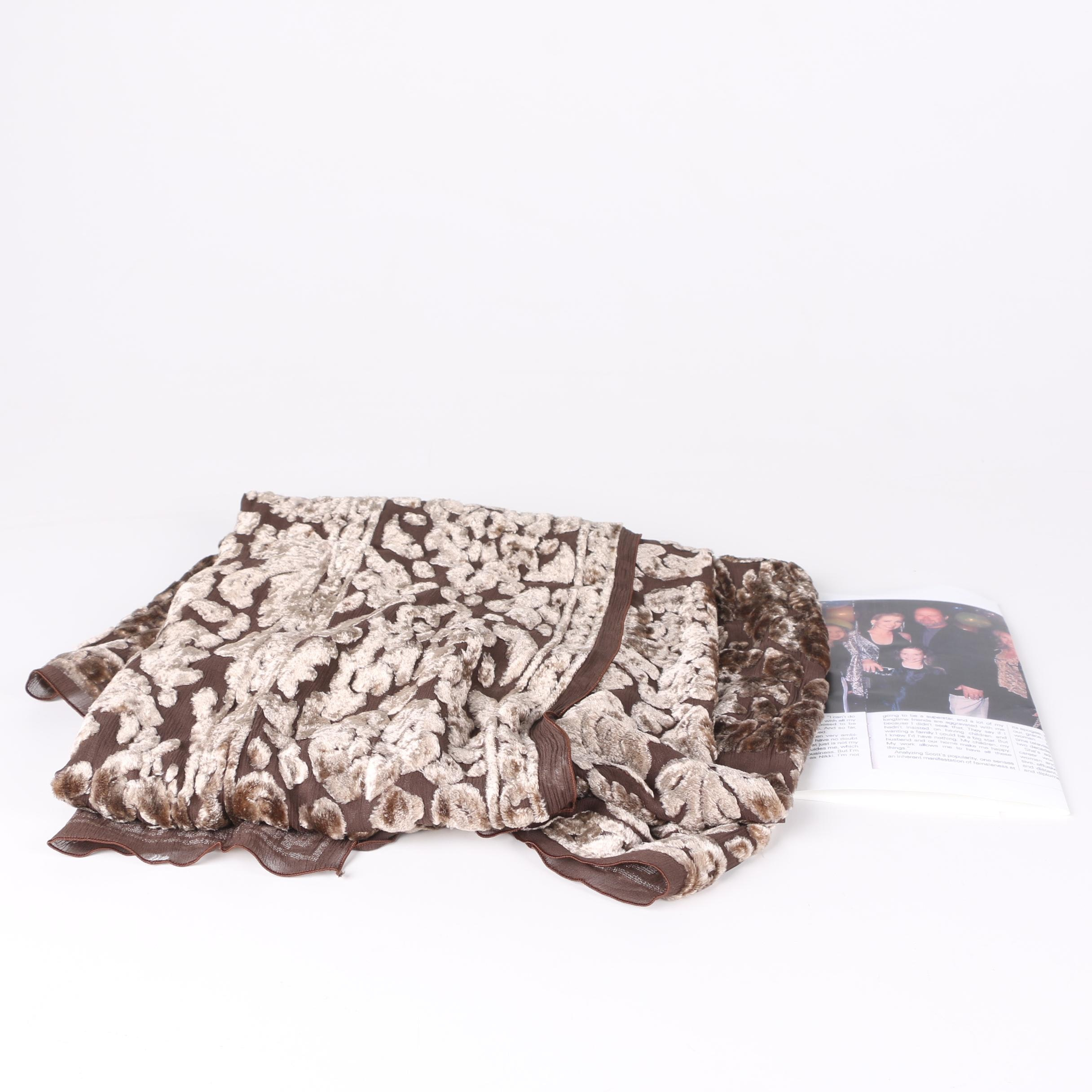 Vintage Velvet Silk Scarf