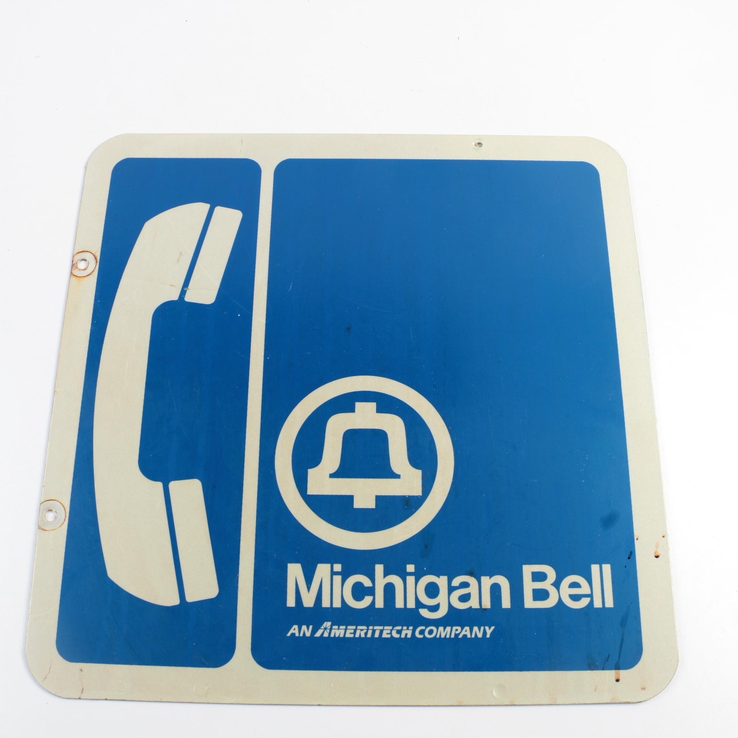 Vintage Michigan Bell Sign