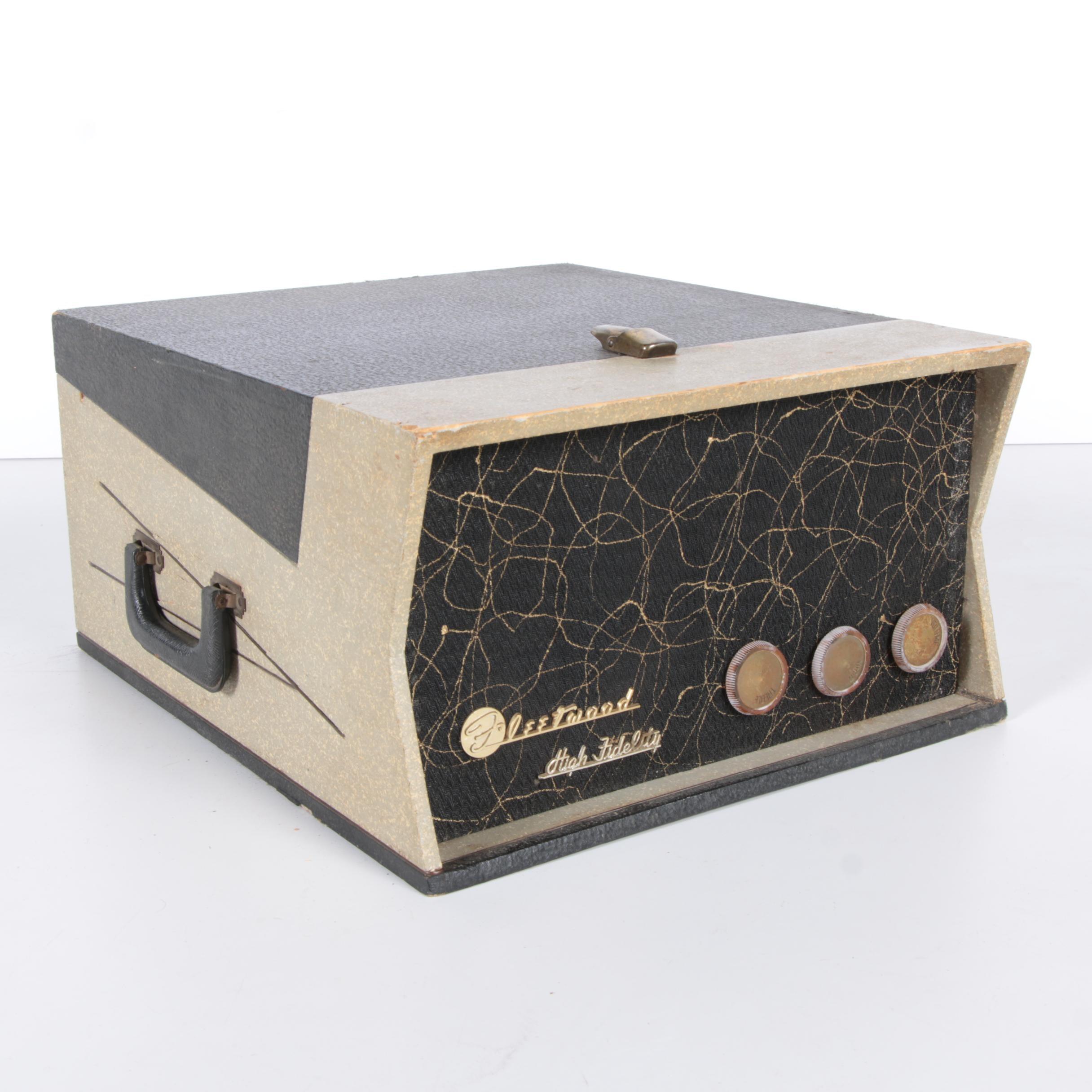 Vintage Fleetwood Model 670 Portable Turntable