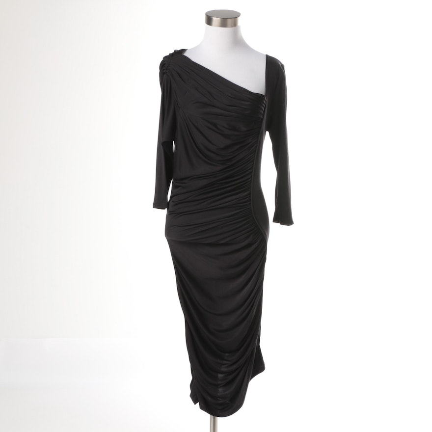 850465bb Catherine Malandrino Black Silk Evening Dress : EBTH