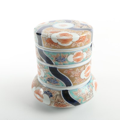Chinoisserie Stacked Ceramic Trinket Boxes