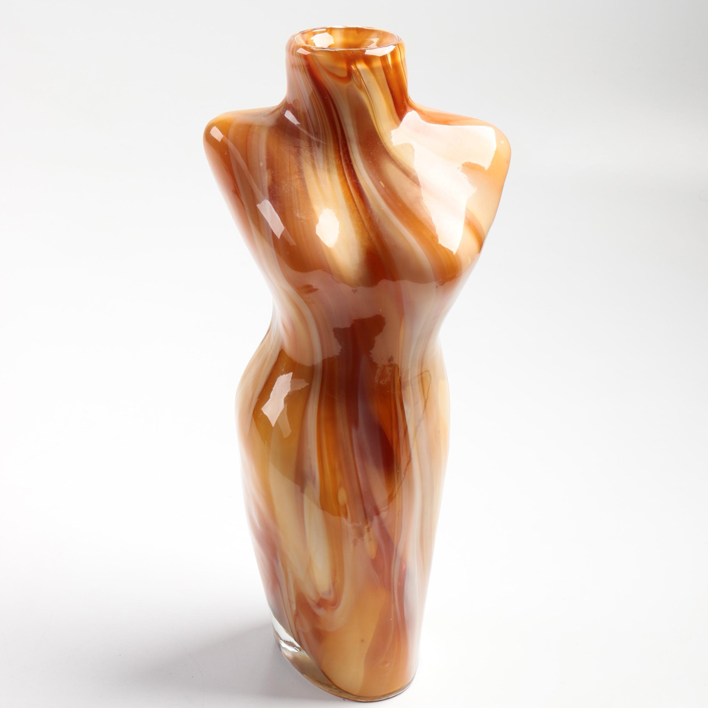 Agate Glass Vase