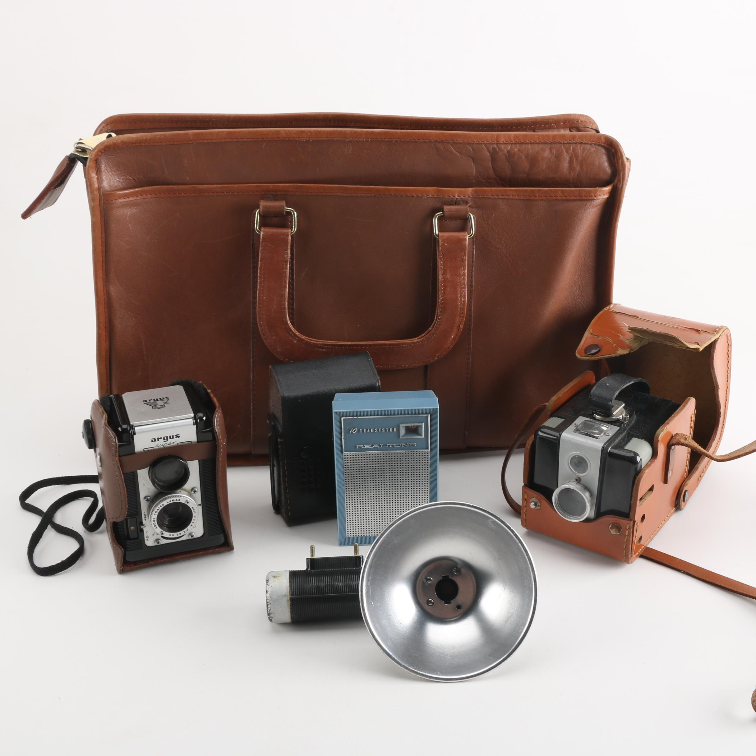 Assorted Vintage Cameras with Accessories