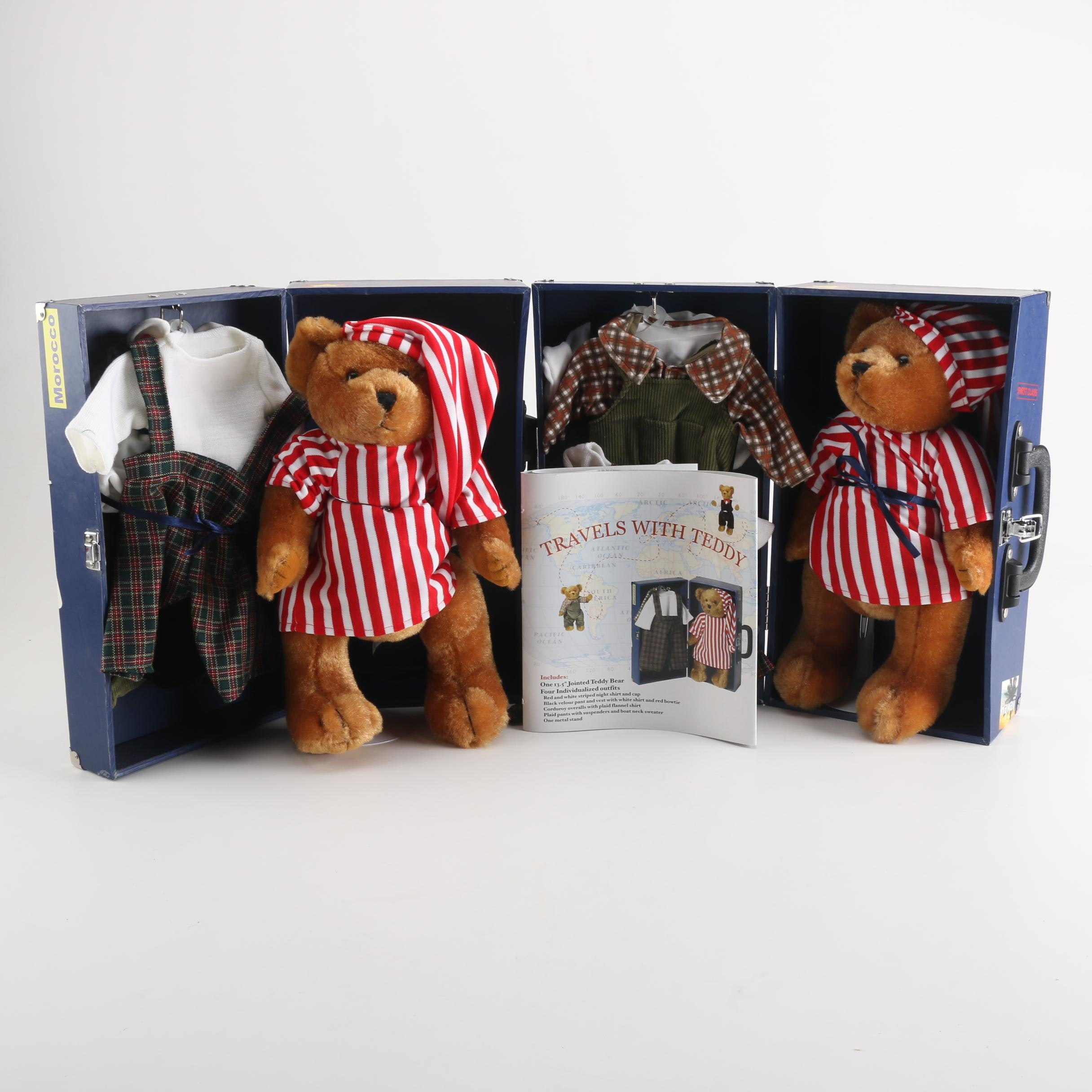 """Pair of """"Travels with Teddy"""" Bears"""