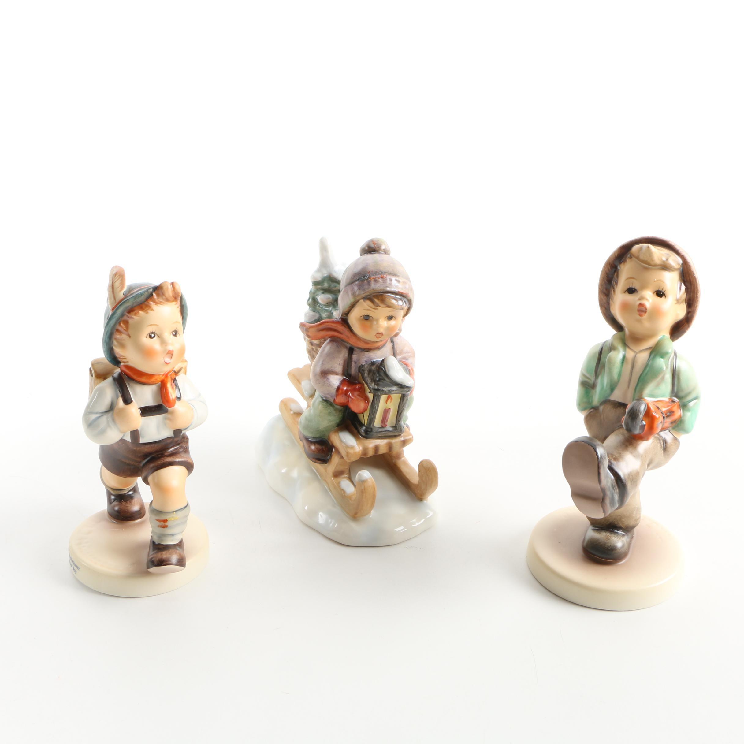 """Vintage Hummel Figurines Including """"Happy Traveller"""""""