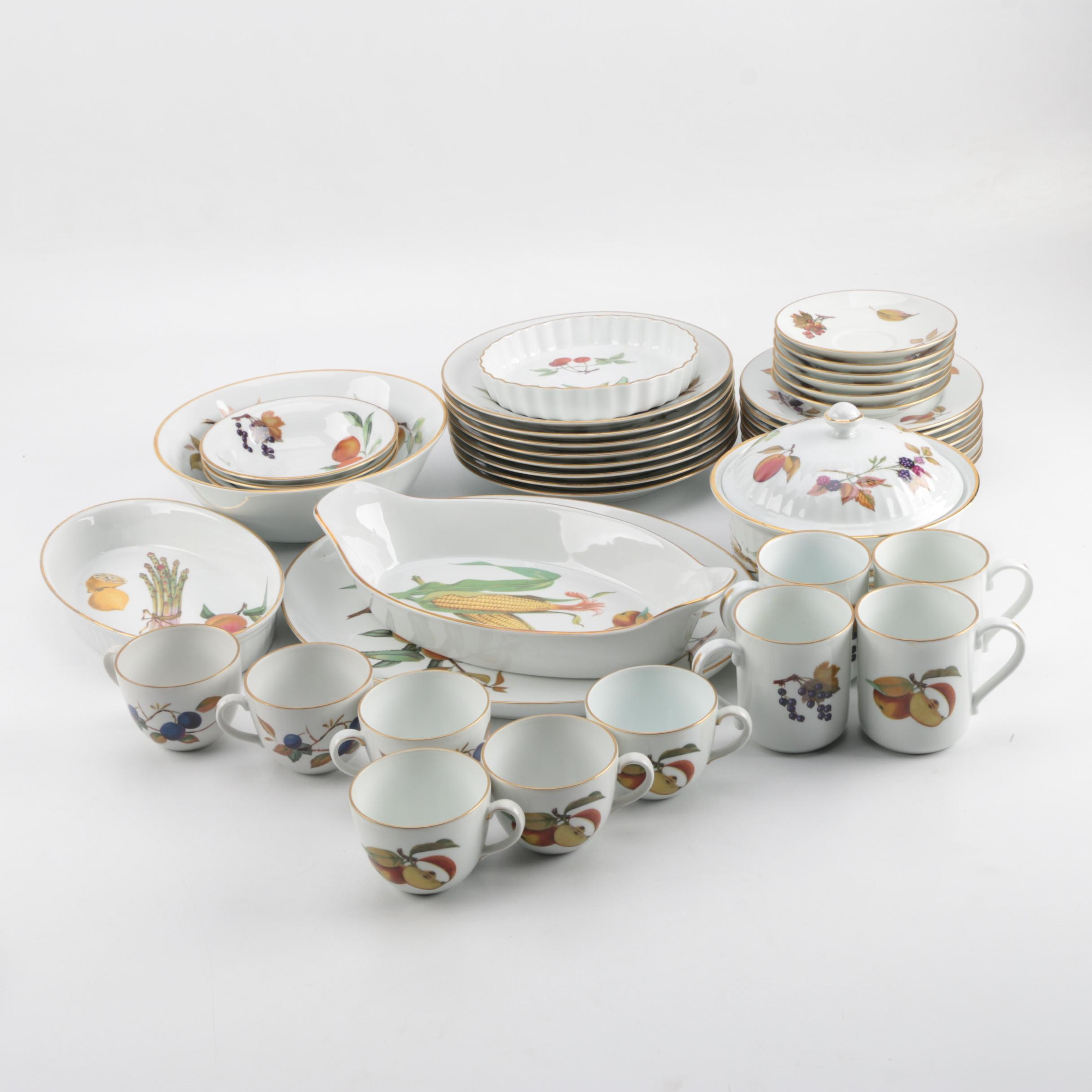 "Vintage Royal Worcester ""Evesham"" Porcelain Tableware"