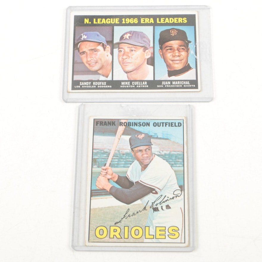 1967 Topps Frank Robinson And 1966 Era Leaders Baseball Cards