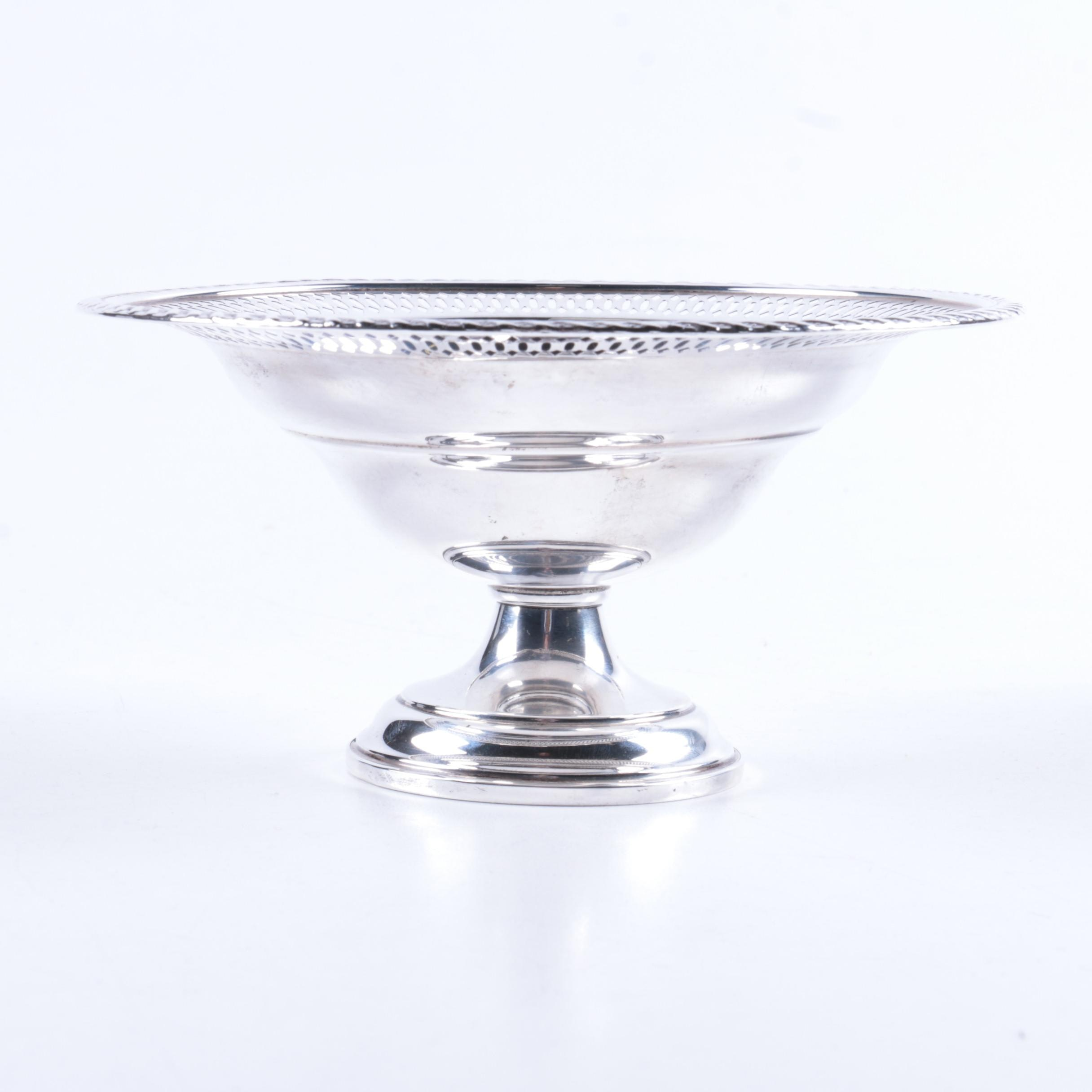 Preisner Silver Co. Short Weighted Sterling Silver Compote